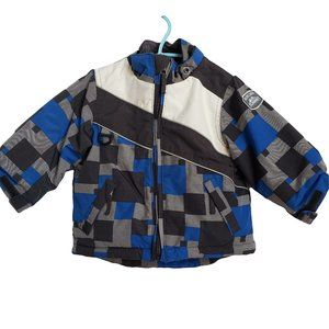 PLACE Black Blue & Gray Winter Coat 18 mths